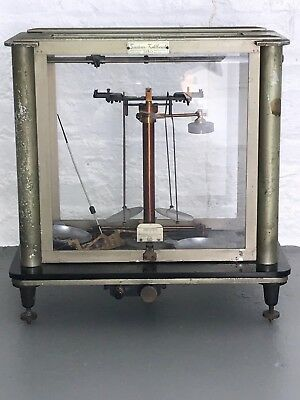 LIGHT GREEN ANTIQUE ANALYTICAL & BALANCE SCALE by Seederer-Kohlbusch, $395