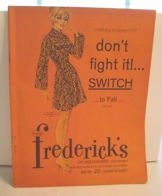 Vintage 1967 Frederick's of Hollywood Fashion Catalog Lingerie Sexy 1960s 60s