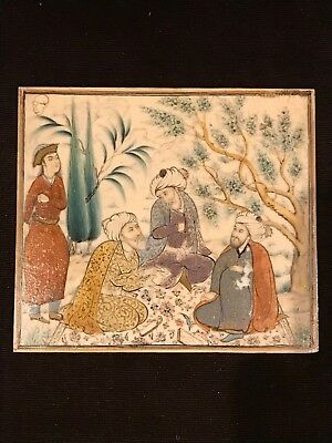 Antique Persian Islamic Miniature Painting Signed Super Detail
