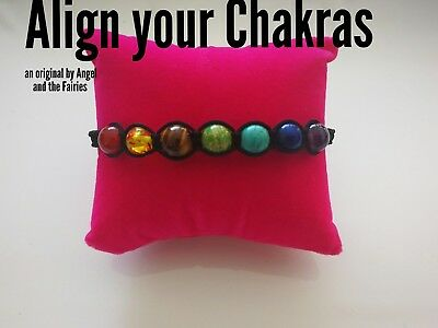 Code 303 Align your chakra infused braided bracelet unisex heal energy yoga 6 mm