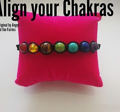 Code 304 Align your chakras infused braided bracelet unisex energy yoga 10 mm