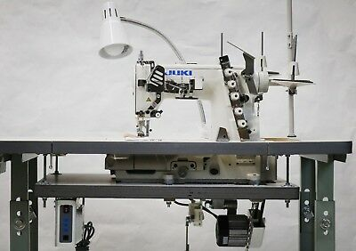 Juki 3 Needle Coverstitch Machine w/ Professional Table & Servo Motor (MF-7523)
