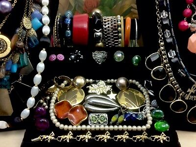 Large Lot Of Vintage~Now Costume Jewelry Earrings, Necklaces, Bracelets (E2008)