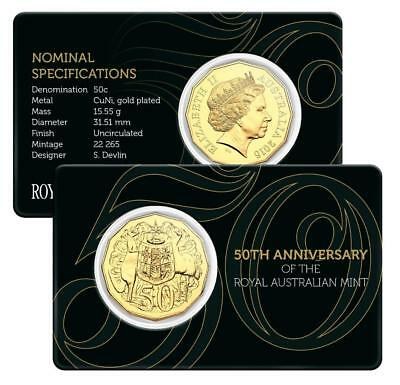 2015 Australian Gold Plated Fifty Cent - 50th Anniversary of The Mint Free Post!