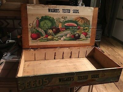 Antique Wagner's country store Paper Label Advertising Seed Box