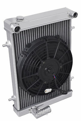 3-ROW FULL ALUMINUM RADIATOR+2X RED FANS FOR 1979-1980 TRIUMPH SPITFIRE 1500 MT