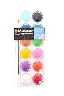 Micador Stylist Watercolours Palette of 12 Colours **mwcp12c