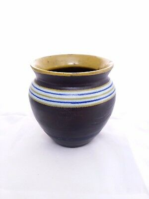 Gouda Pot Holland Effect Pottery Cachepot, Small 1922 PZH Dutch Ceramic