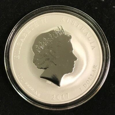 """2017-P Australia $1.00 Lunar """"Year of the Rooster"""" 1oz .999 Fine Silver coin. SC"""
