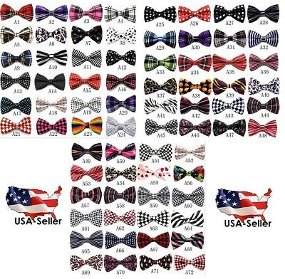BOW TIE MENS ADJUSTABLE ASST PATTERNS WEDDING TUXEDO NECKTIE US SELLER Free Ship