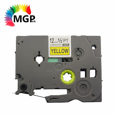 10 compatible Brother TZ631 P-TOUCH label tape Black Text On Yellow 12mm 1/2