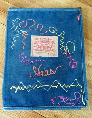 Levi Strauss denim covered two-sided folder, One of a kind Collectible Levi Item