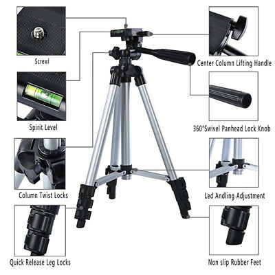 Universal Aluminum Tripod Stand + Bag For Canon Nikon Camera Camcorder WB1