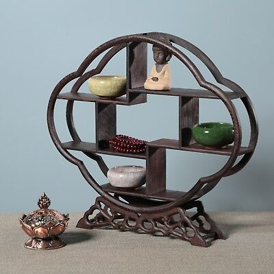Pretty wood Stand /SHELF For Netsuke / Snuff Bottles Or Curios MJ01
