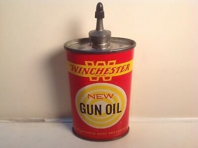 Vintage Winchester Can Handy Oiler FULL Lead Top 3 oz Rare oil household Gun Old
