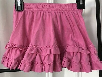 HANNA ANDERSSON Pink Ruffle Skirt W/Attached Short Size 4 Hanna Size 100cm