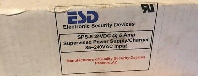 ESD Electronic Security Devices SPS-5 Supervised Power Supply/Charger 24VDC @ 5A