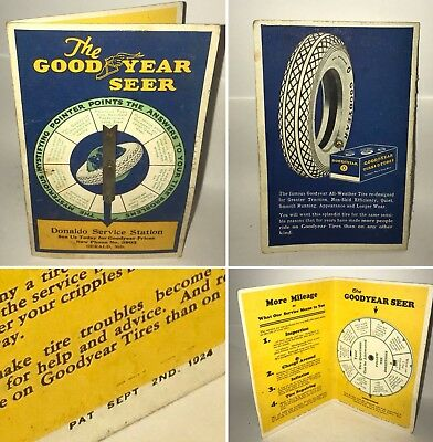 1924 The Goodyear Tire Company SHEER Advertising Q&A Spinner Promo JB Carroll Co