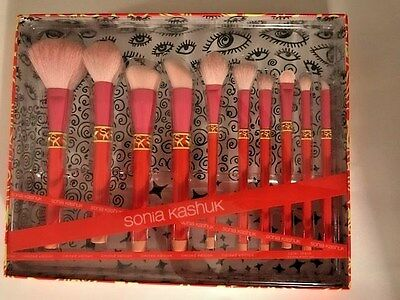 NEW Sonia Kashuk Limited Edition Color Shock 10 Piece Brush Set