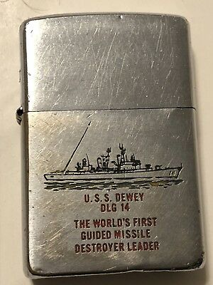 USS Dewey DLG 14 World First Guided Missile Destroyer 1960 Zippo Matching Insert