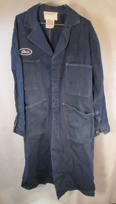 Vintage Mechanic Denim Coverall Smock Shop Coat Universal Chicago Stone Cutter