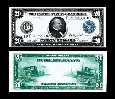 Fr. 987a $20 1914 Federal Reserve Note ~~ ALMOST UNCIRCULATED