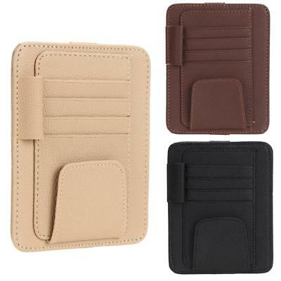 Car Card Ticket Clip Holder Multiuse Suit Leather Sunglasses Pen For Car Roof