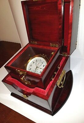 Beautiful Double Box Russian Ship's Chronometer - Xpohometp Mopckon (Ty25-07)