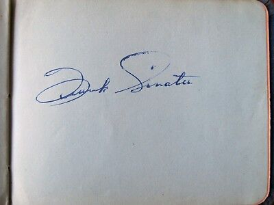 Frank Sinatra autograph in 1949 album with other movie star autographs