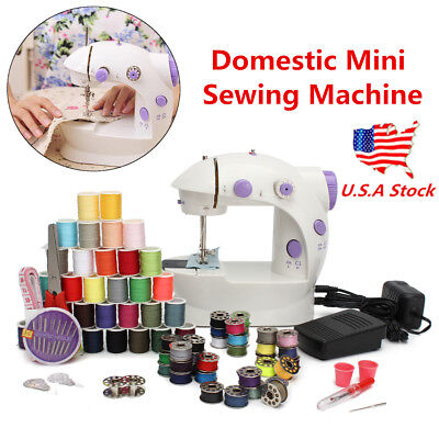 US Household Hemline Mini Sewing Machine 2 Speed Ideal For Beginners & Kids New