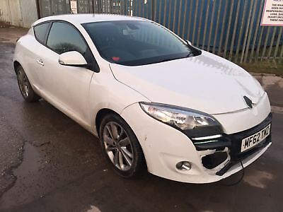 2012 Renault Meagne Dynamique Tomtom Dci Starts And Drives Damaged Spares Repair