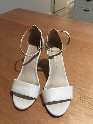 Forever Soles White Wedding Heels Size 37
