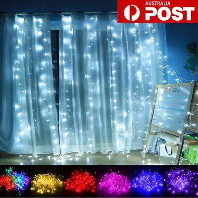 1Mx4M 144 LED Hanging Curtain Fairy String Light Outdoor Christmas Wedding Party