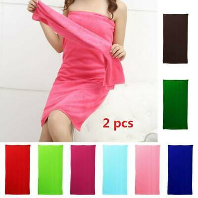 NEW 2x Large Microfibre Cotton Beach Bath Hand Towel Sports Travel Lightweight