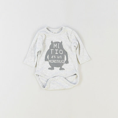 Camiseta body color Gris marca BTS 0 Meses