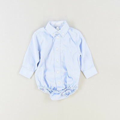Camisa body color Azul marca ZY 3 Meses