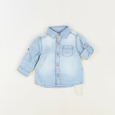 Camisa color Denim oscuro marca Early days 3 Meses