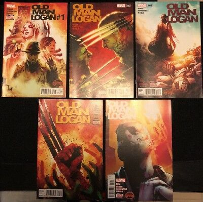 Comics Wolverine Old Man Logan Issues 1-5 nm Condition