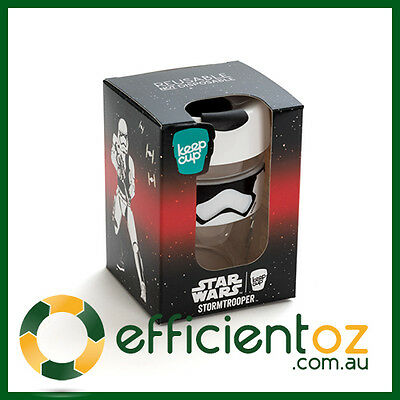 Keep Cup KeepCup BREW GLASS - STAR WARS STORM TROOPER - Reusable Coffee Cup 12oz