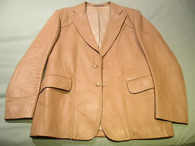 Gwynn Jones Beige Leather Jacket Size L