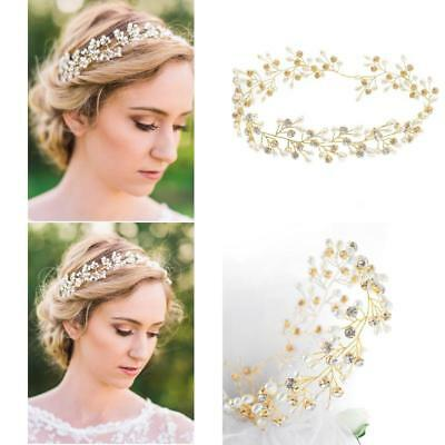 Yean Bridal Headband Gold Wedding Hair Vine Wreath Headdress For Bride And Br...