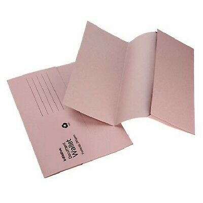 BUFF A4 FOOLSCAP CARDBOARD ENVELOPE FILING DOCUMENT WALLET FOLDERS 50 Pack