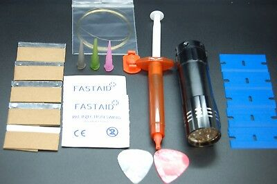 mobile phone front glass repair bundle ,wire,3ml glue,9 led torch,nozzle,blades