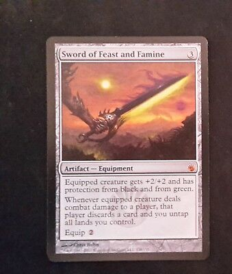 1x Sword of Feast and Famine - Mirrodin Besieged - MTG - NM - English
