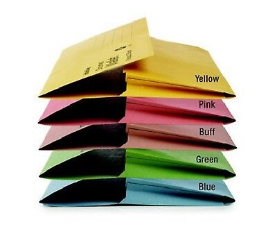 A4 FOOLSCAP CARDBOARD ENVELOPE FILING DOCUMENT WALLET FOLDERS 50 Pack