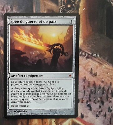 1x Sword of War and Peace - New Phyrexia - MTG - EX- French