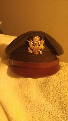 Wwii Army Aircorp Officers Crusher Cap