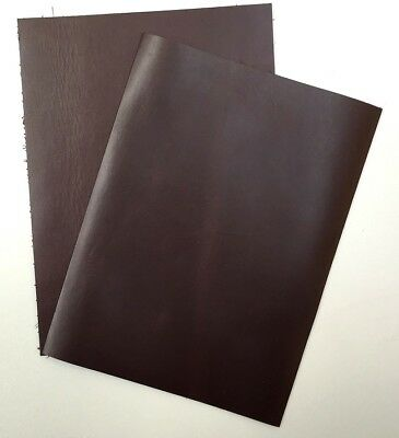 LEATHER COWHIDE CHOCOLATE 2@ 20CM X 15CM 1.8-2.0 mm THICK - FULL GRAIN SOFT FEEL