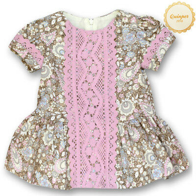 SPANISH QUINPER Traditional Toddler Baby Girls Floral Dress Age 18 Months