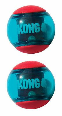 Kong Squeezz Action Red Large - Hunde Spielzeug Ball
